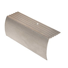 Stair Nosing Floor Moulding, Hammered Silver   1 5/8 Inch