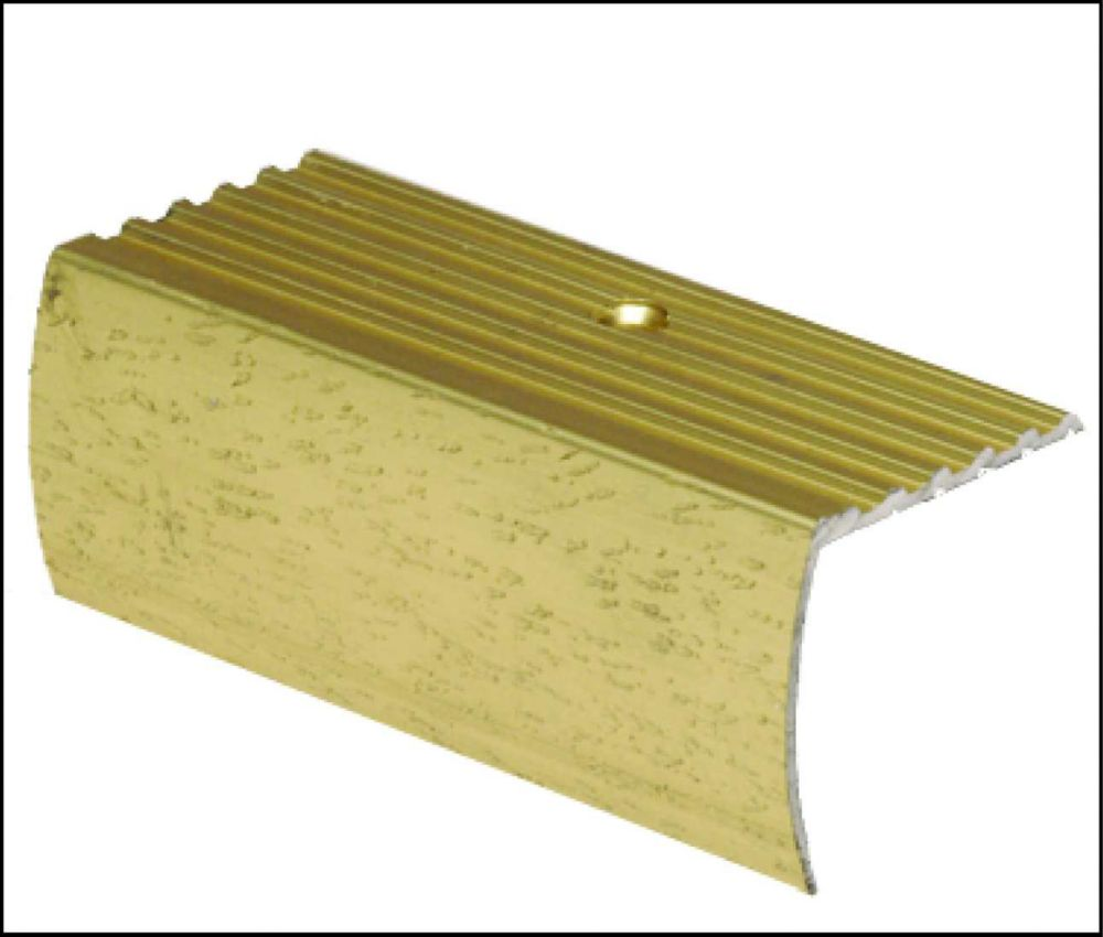 Stair Nosing Floor Moulding, Hammered Gold - 1-5/8 Inch