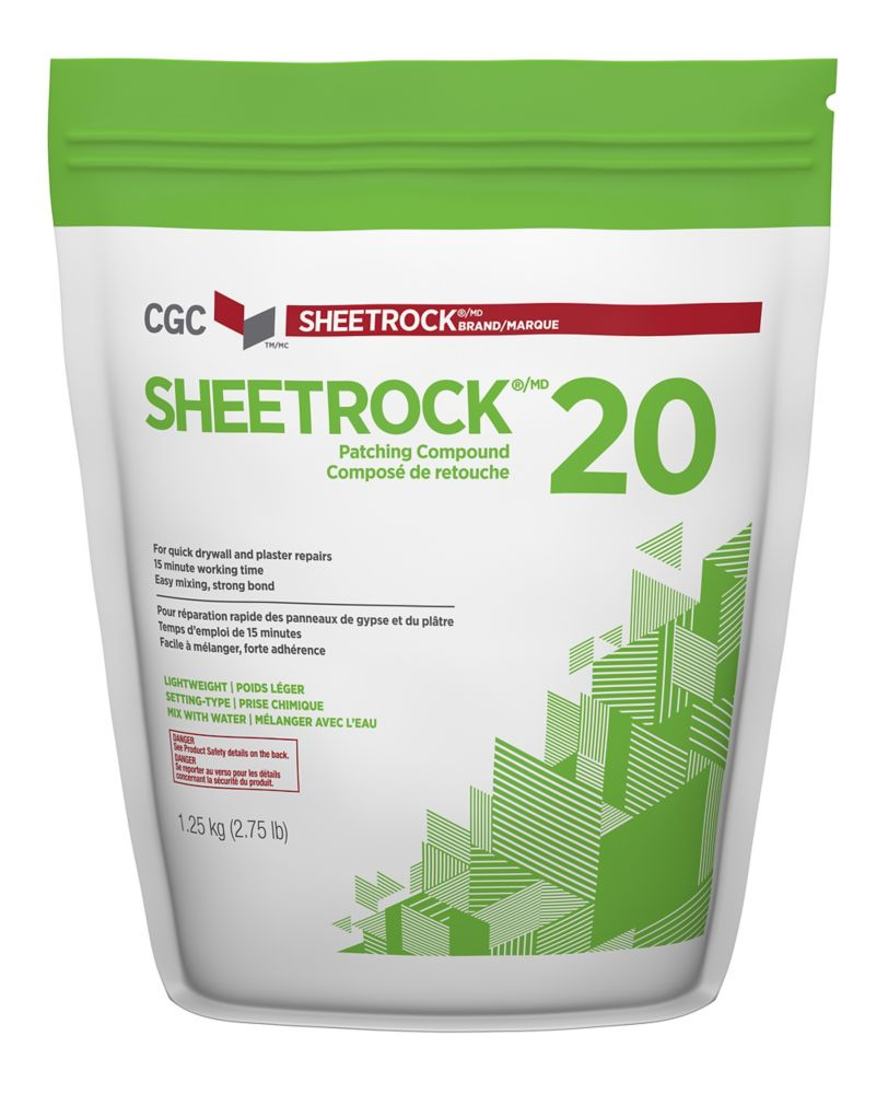 Sheetrock 20 Setting-Type Joint Compound, 1.25 kg Bag