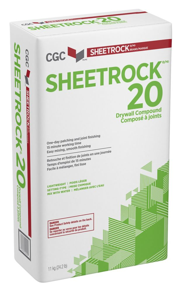 Sheetrock 20 Setting-Type Joint Compound, 11 kg Bag