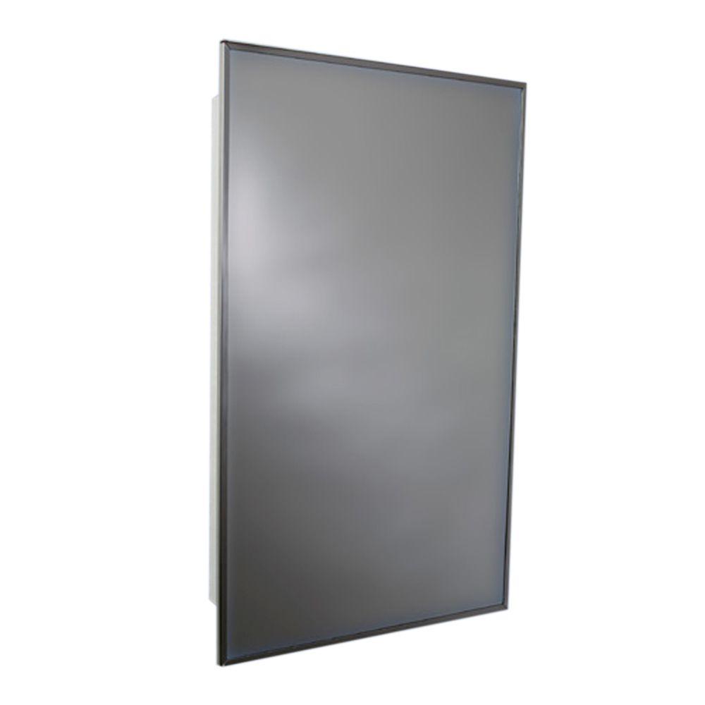 Stainless Steel Frame Swing Door Medicine Cabinet - 16 Inch x 20 Inch