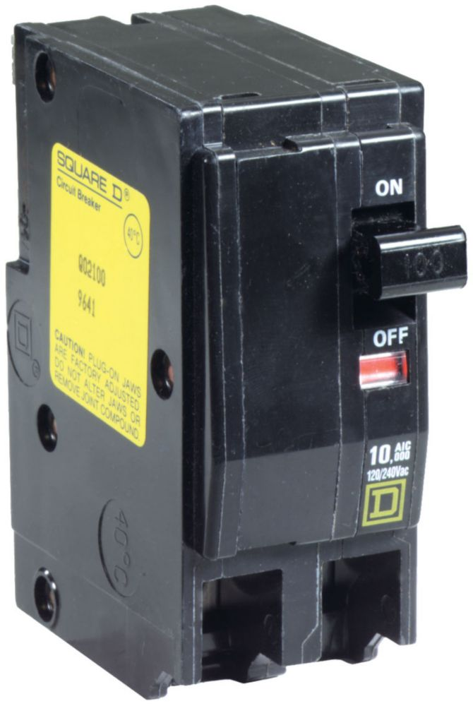 Double Pole 100 Amp, QO Plug-On Circuit Breaker QO2100 Canada Discount