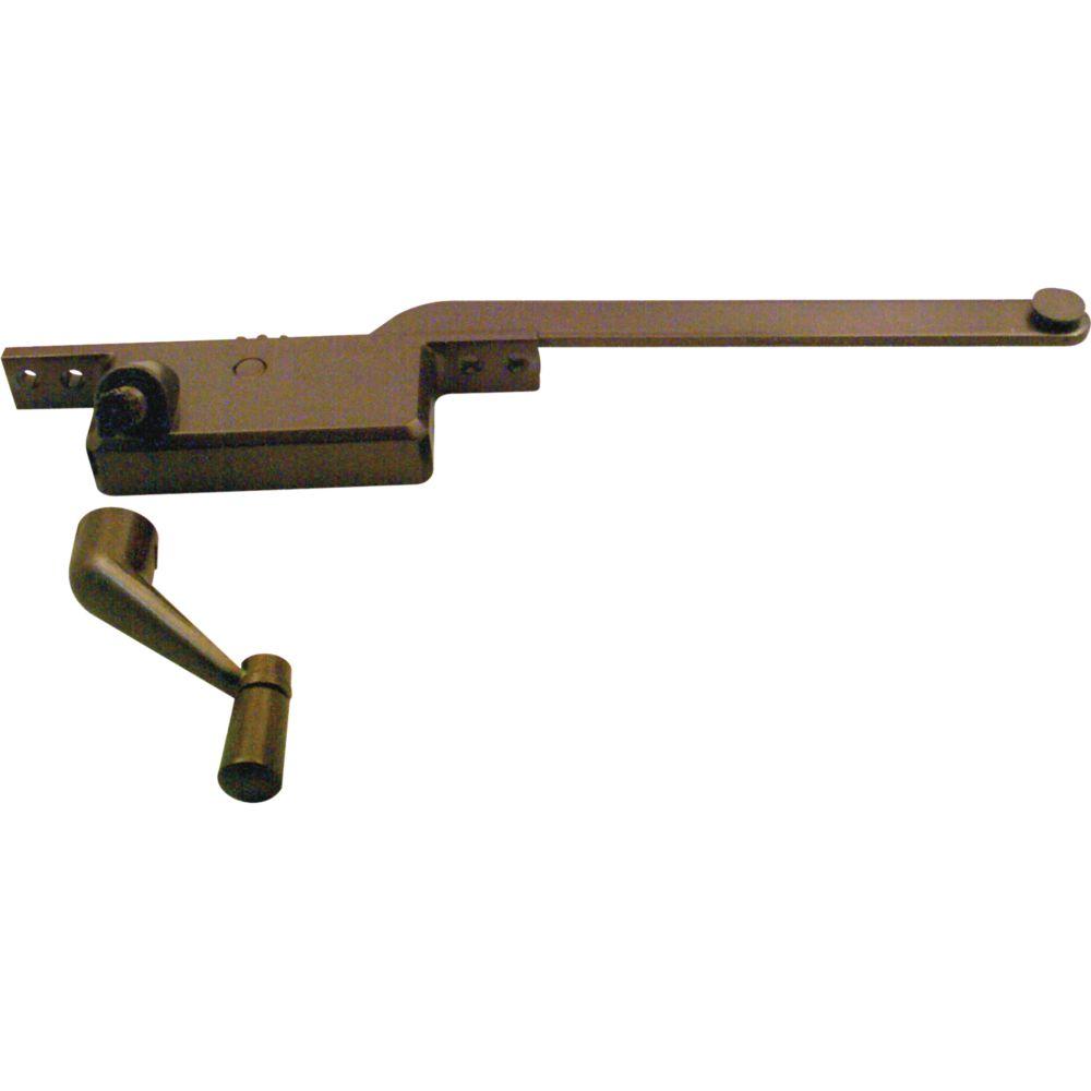 Mécanisme opérateur de style carré de 9 po pour fenêtre à battant avec ouverture à gauche