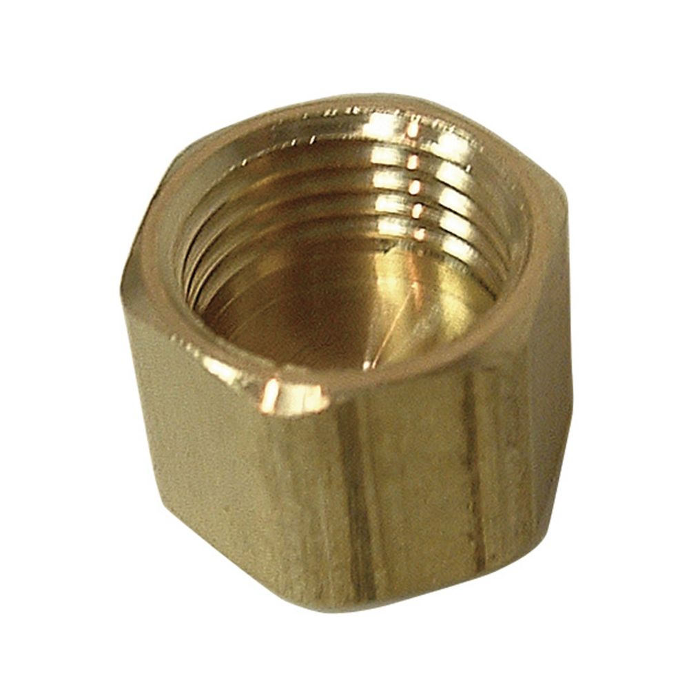 Brass Compression Nut less Insert (5/8 Inches)