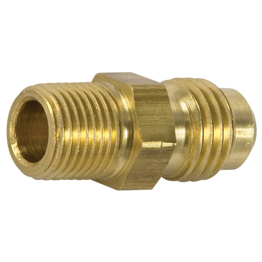 Brass flare to male pipe half union 1 4 x 1 4 a80 in for Pipe in pipe plumbing