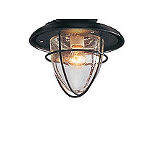 Ventilateur de plafond d'intérieur Palm Beach, fer doré, 48po, dispositif d'éclairage à une ampoule