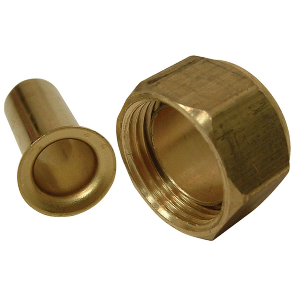 Brass Nut with Brass insert (3/8 Inches)