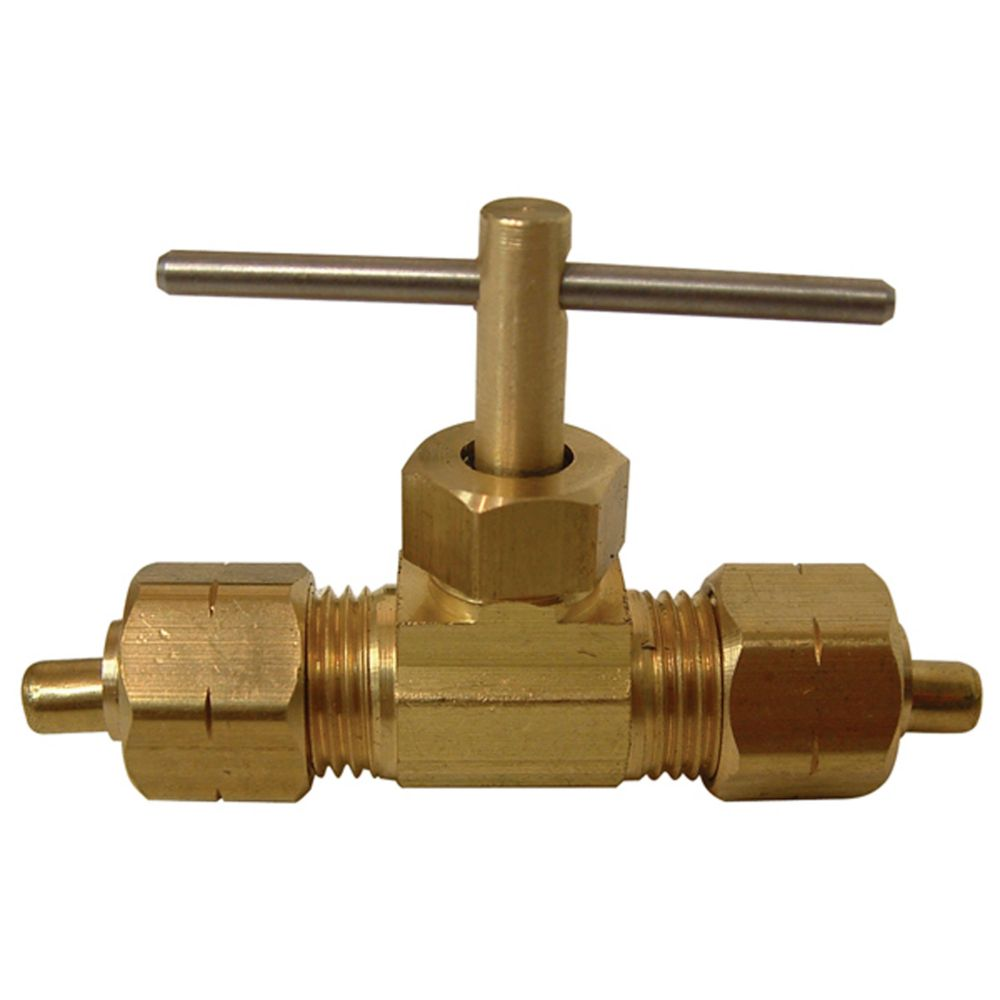 Poly Tube to Tube Straight Needle Valve (3/8) A140 in Canada