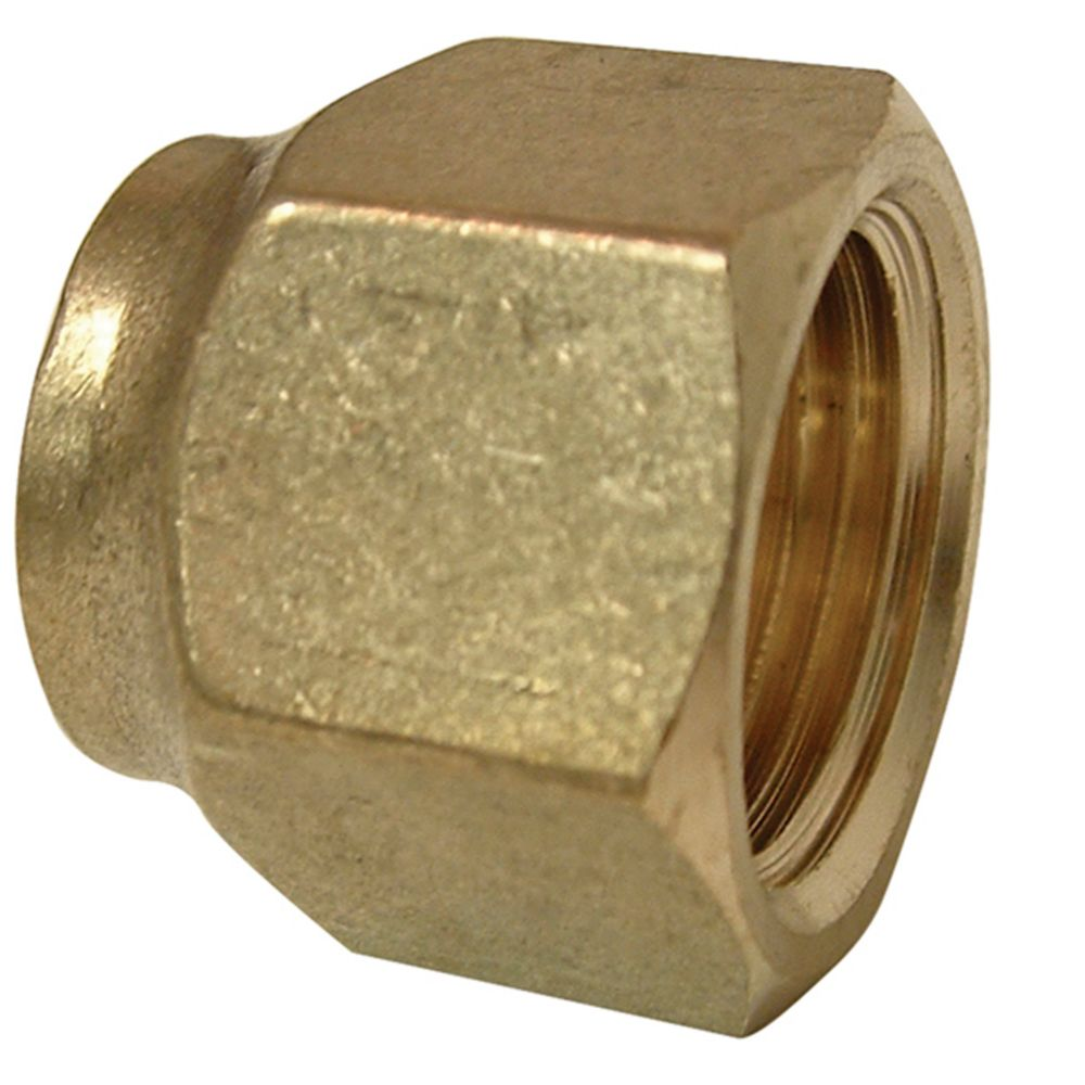 Brass Short Forged Nut (3/8 Flare)
