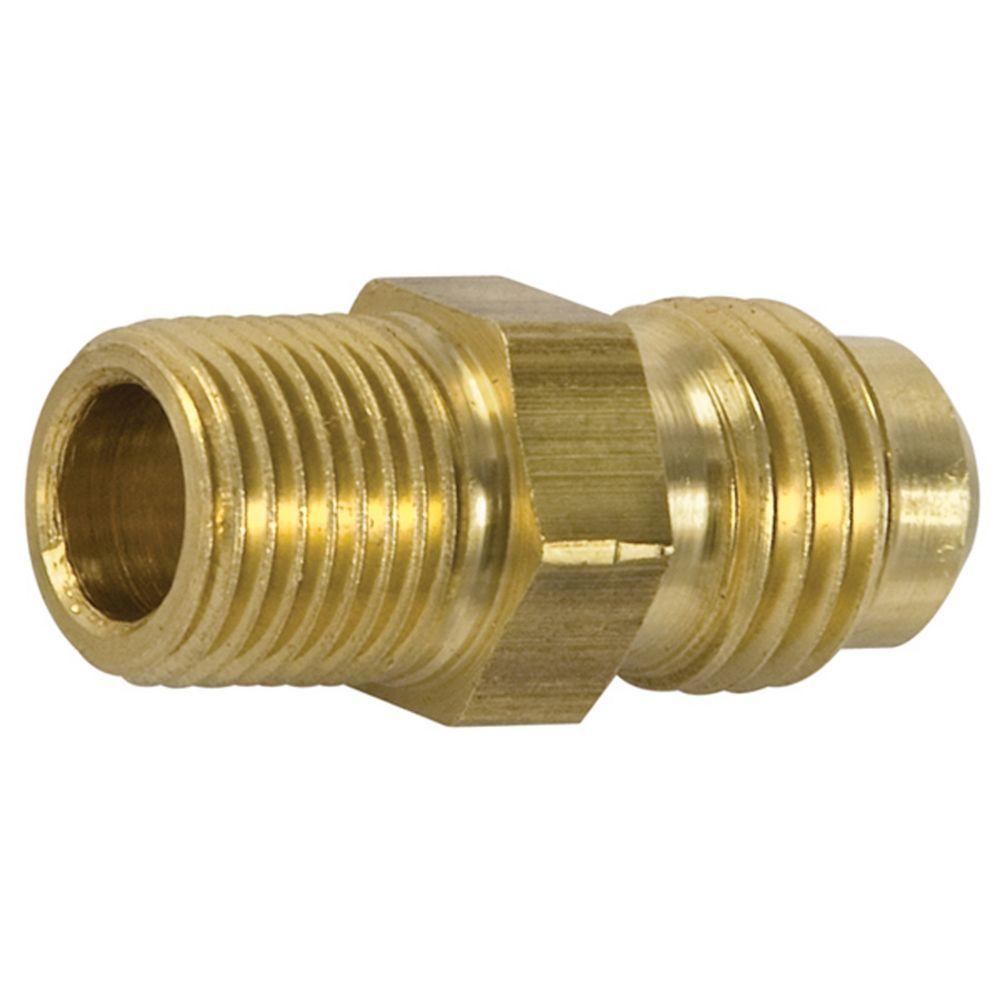 Watts brass flare to male pipe half union
