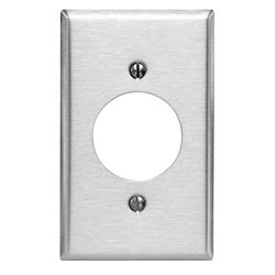 Leviton 1-Gang Plate with 2.15 In. Hole Stainless Steel