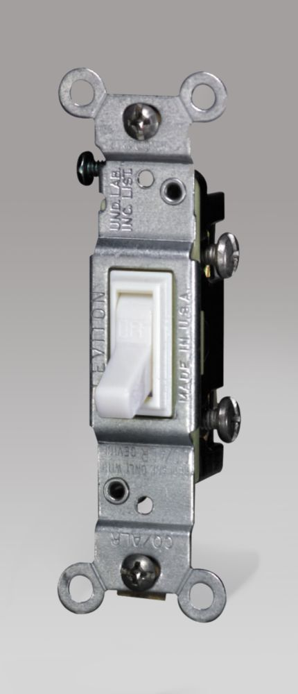 Interrupteur Unipolaire, Cu/Al, Blanc