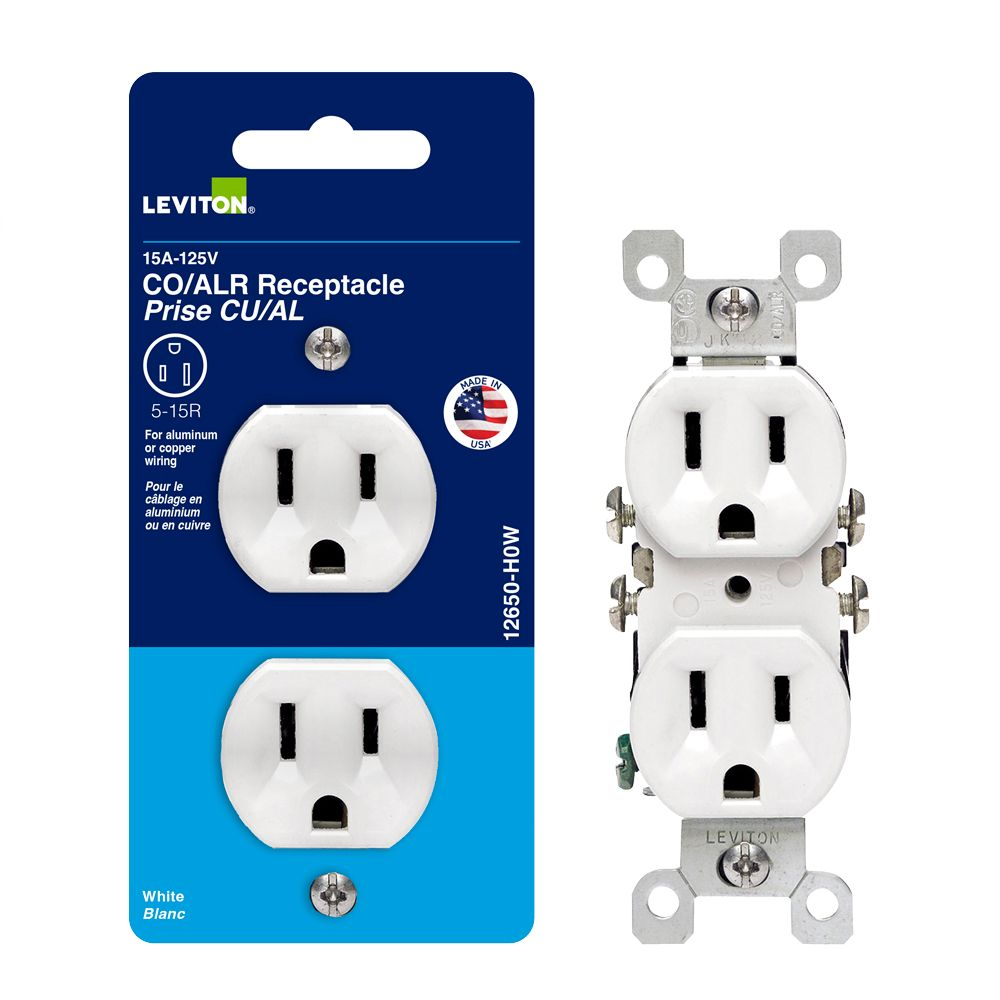Co/alr Duplex Outlet - White