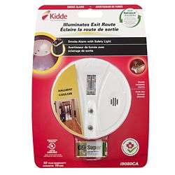 Kidde Battery Operated Safety Light Smoke Alarm with Hush Feature