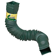 Flex-A-Spout Downspout Extension in Green