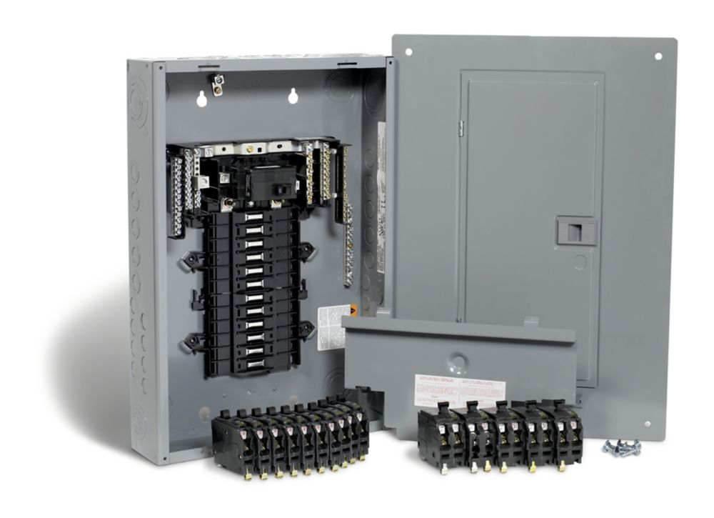 100 Amp, 24 Spaces 48 Circuits Maximum QO QwikPak Panel Package with Breakers