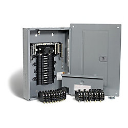 Square D 100 Amp, 24 Spaces 48 Circuits Maximum QwikPak Panel Package with Breakers