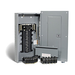 Square D 100 Amp, 32 Spaces 54 Circuits Maximum QwikPak Panel Package with Breakers
