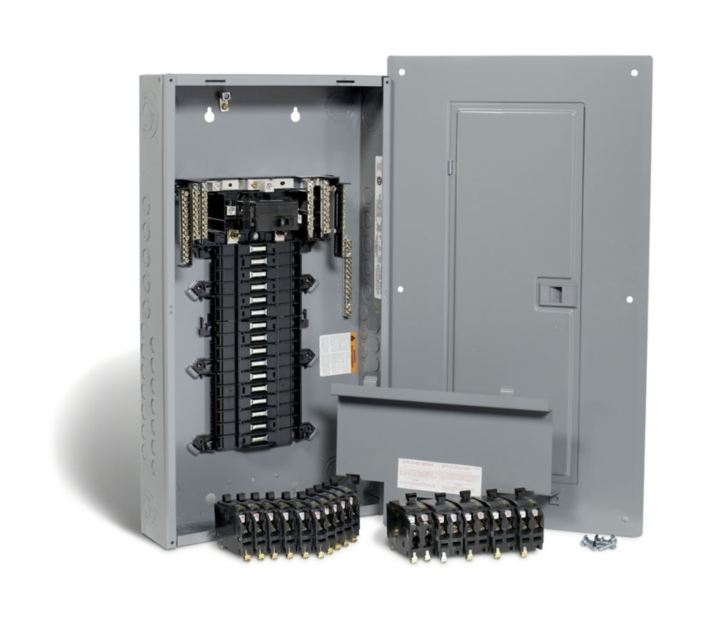 100 Amp, 32 Spaces 54 Circuits Maximum QwikPak Panel Package with Breakers