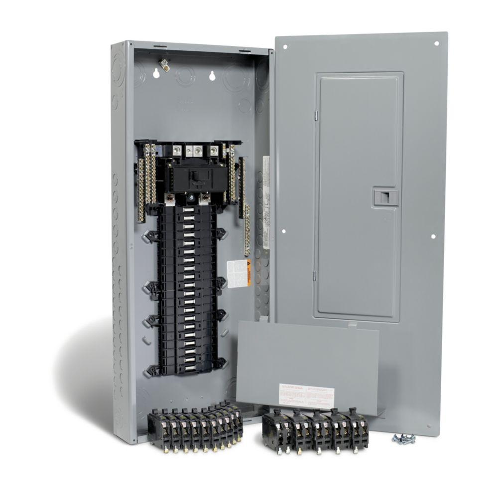 Centre de distribution QO de 200A, avec 40 espaces et un maximum de 80 circuits, avec disjoncteur...