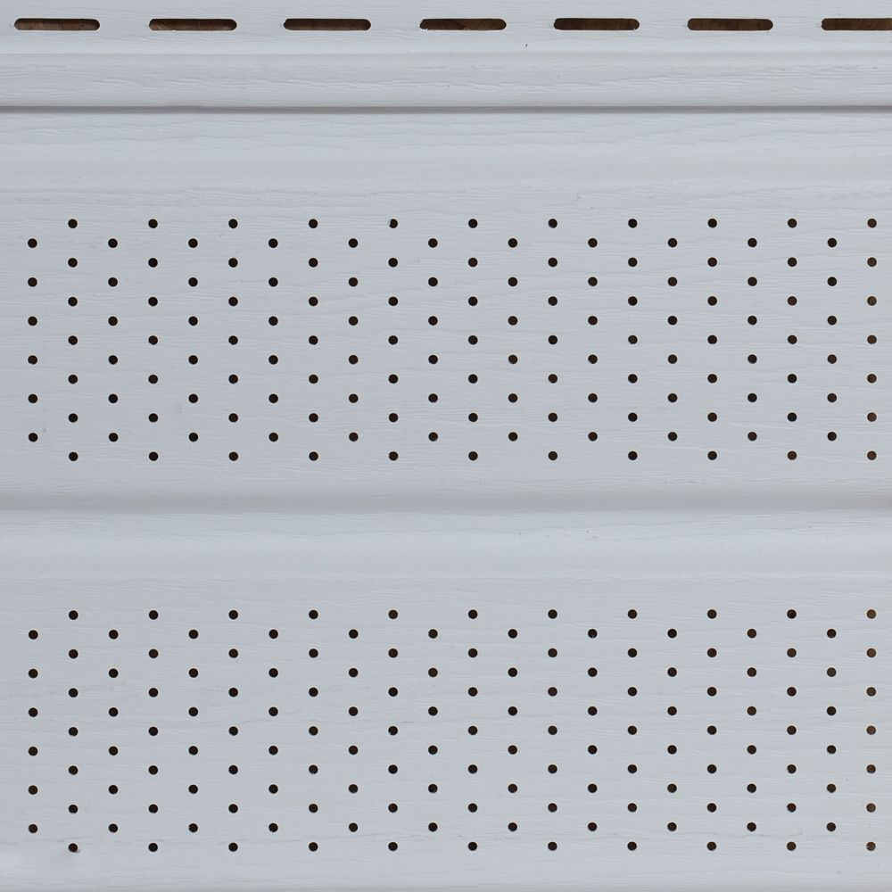 10 in. Perforated Woodgrain Double 5 Soffit white