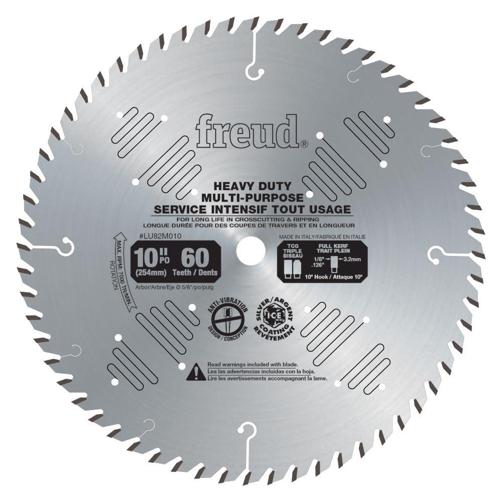 10 In. Multi-Purpose Industrial Blade - 60 Teeth