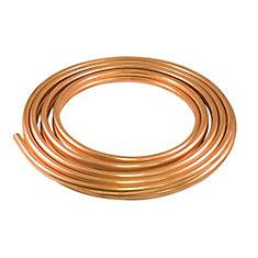 Copper Utility Coil 1/4 Inch x 10 Foot