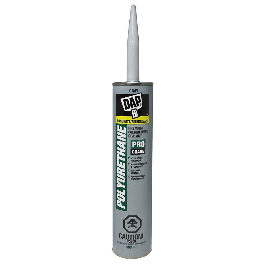 DAP Mastic pour béton en polyuréthane résistant à l'eau - 300 ml, gris ardoise.
