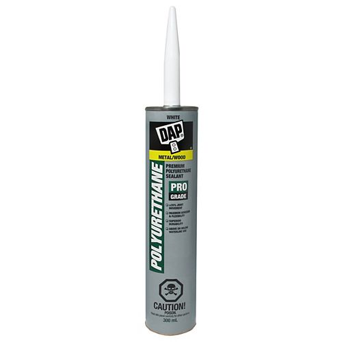 DAP Premium White Polyurethane Construction Adhesive Sealant Exterior 300ml
