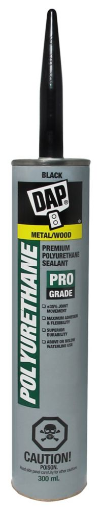 DAP Premium Black Polyurethane Construction Adhesive Sealant Exterior 300ml