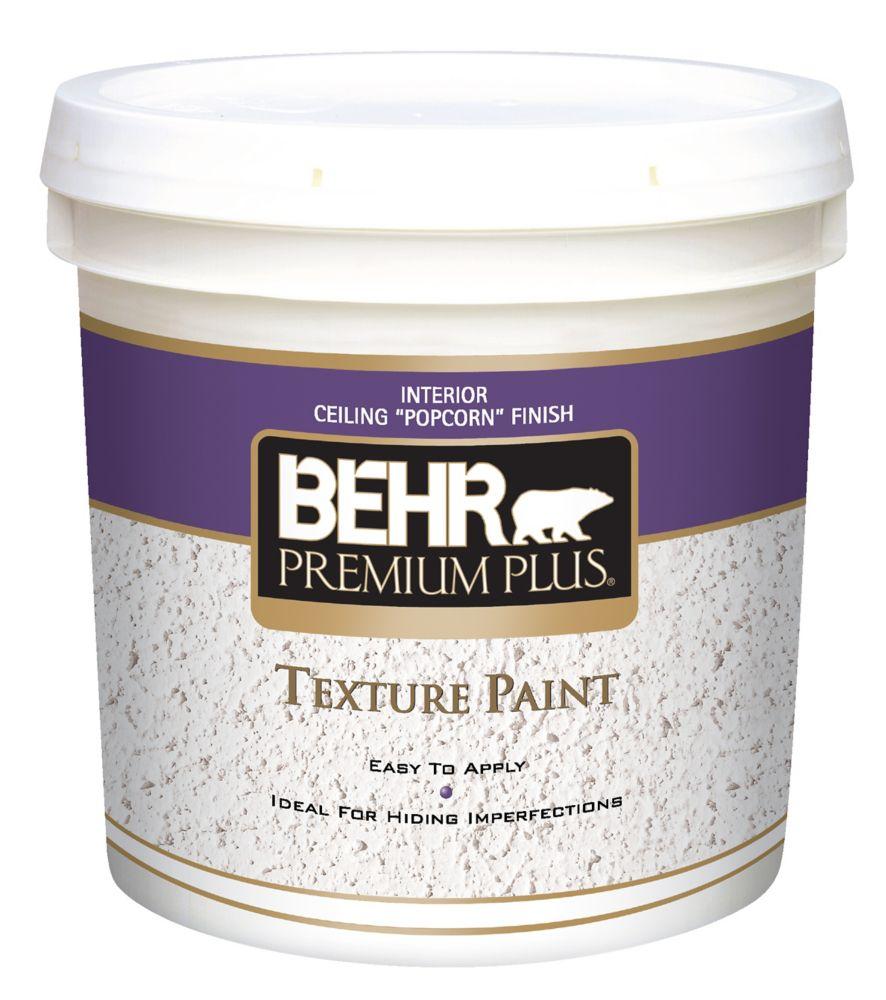 PREMIUM PLUS Peinture Texturée - Fini Popcorn pour Plafonds, 7,58L