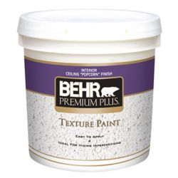 Behr Premium Plus PREMIUM PLUS Peinture Texturée - Fini Popcorn pour Plafonds, 7,58L