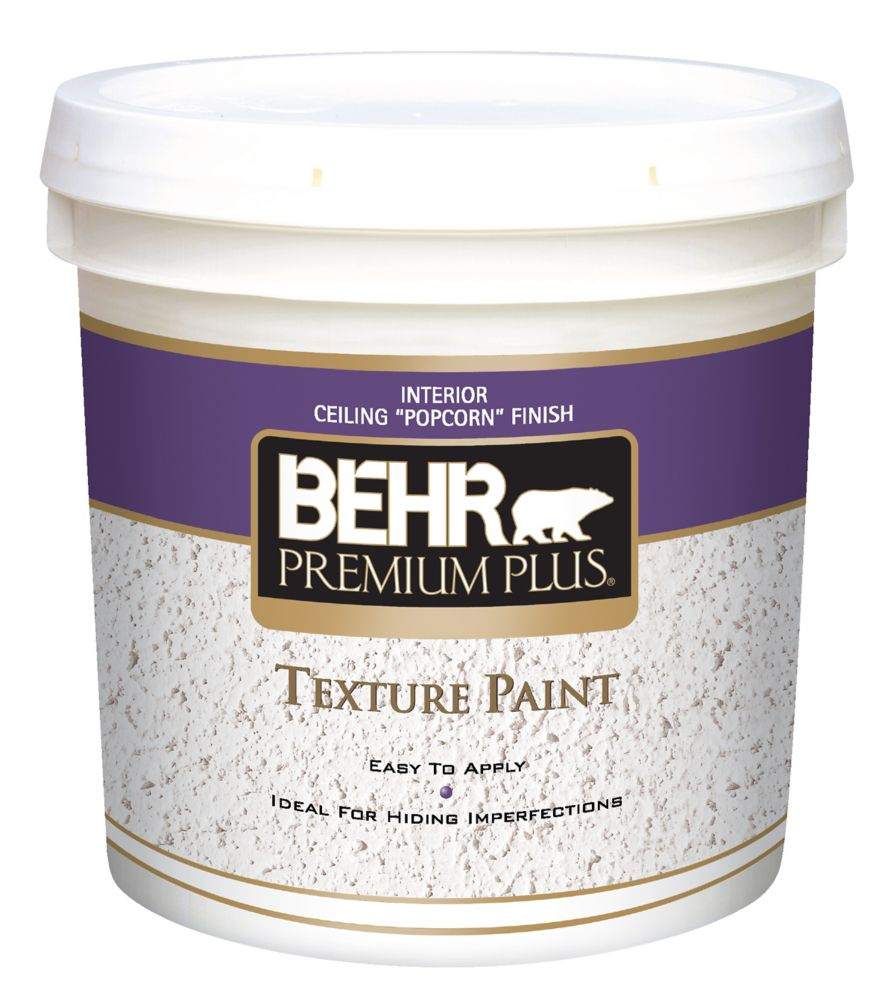 Behr Premium Plus Texture Paint Ceiling Popcorn Finish 7 58l The Home Depot Canada
