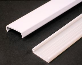 Wire Channel Nonmetallic White