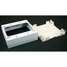 Non-metallic 2 Gang 1 3/8 In. Deep Outlet Box White