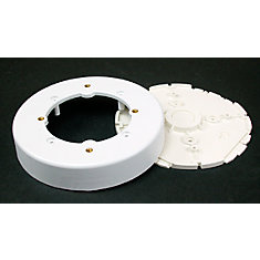 Non-metallic Circular Ceiling Fixture Box White
