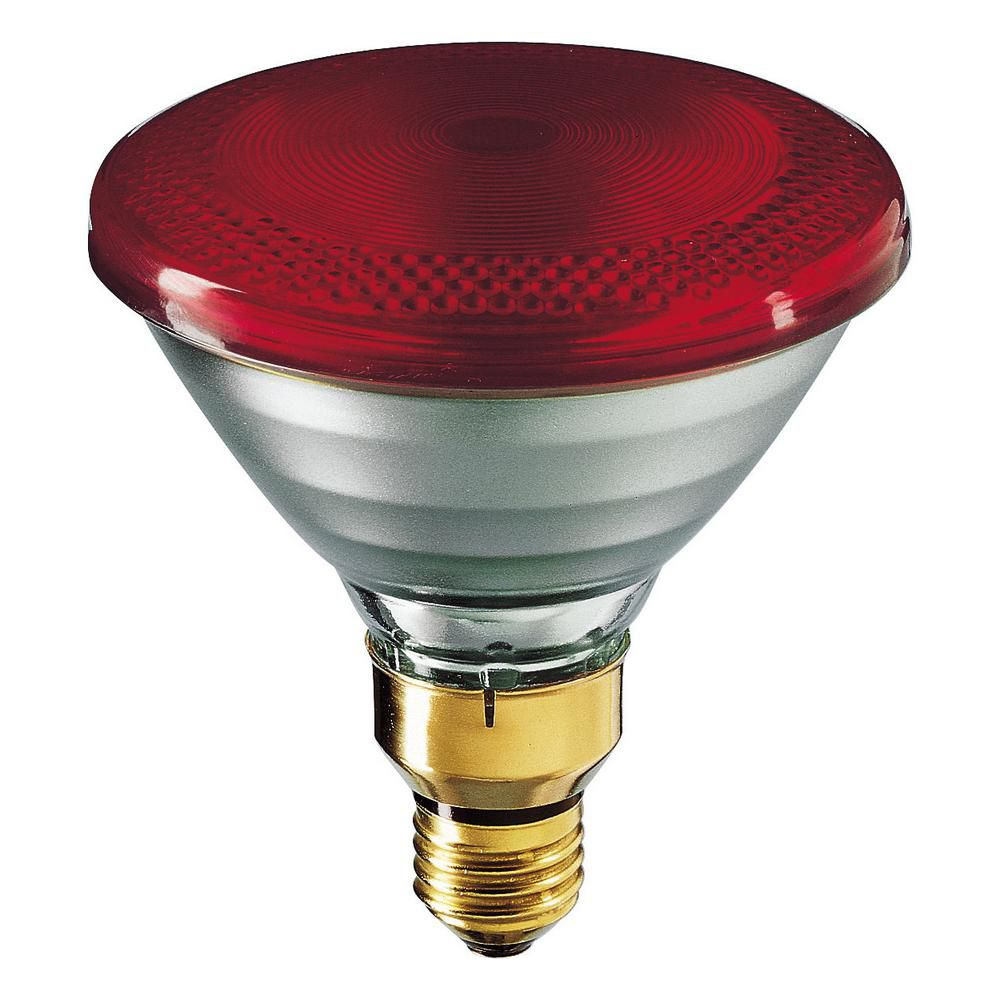 philips 175w par38 heat lamp red hard glass the home depot canada