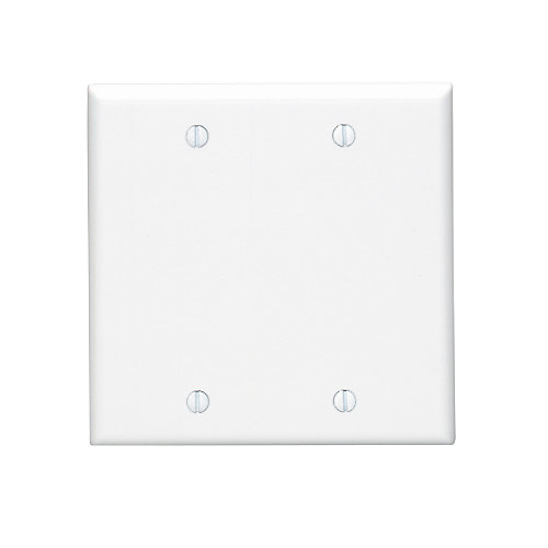 Double Blank Wall Plate - White
