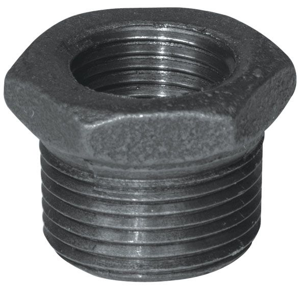 Aqua dynamic fitting black iron hex bushing inch
