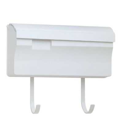 Snoc Wallmounted Mailbox With Hooks, White