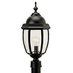 Vintage III 1-Light Outdoor Black Lamp Post