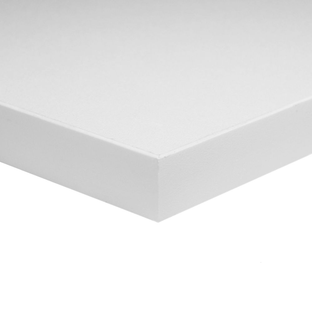 3/4 Inch  30 Inch x 60 Inch White Melamine Table Top Handy Panel
