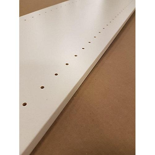 Melamine white drilled board 5/8 Inch x 12 Inch x 96 Inch