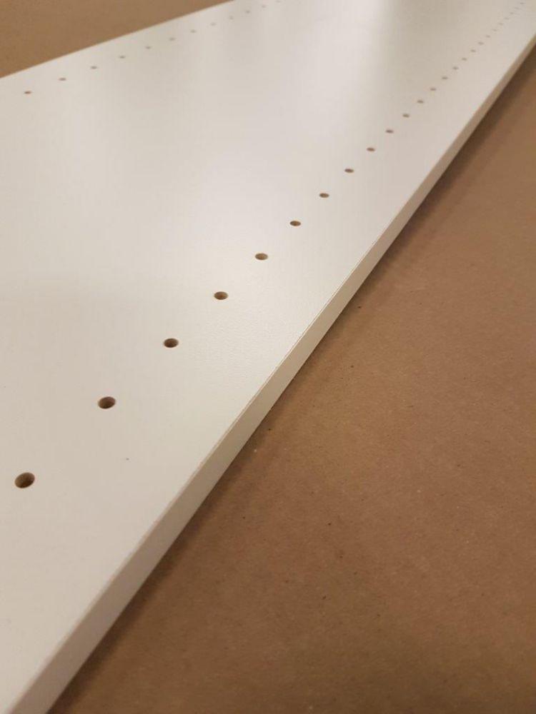 Cutler Group Melamine white drilled board 5/8 Inch x 12 Inch x 96 Inch