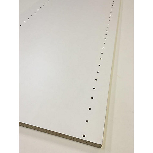 Melamine white drilled board 5/8 Inch x 16 Inch x 96 Inch