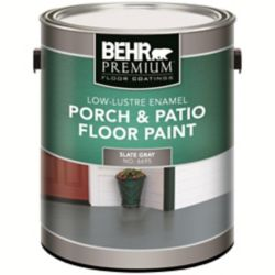 BEHR PREMIUM PLUS Interior/Exterior Porch & Floor Paint - Low-Lustre Enamel, Slate Gray, 3.79L