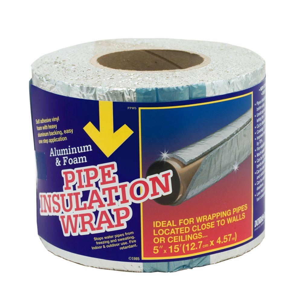 Mousse adhésif revêtement isolant pour tuyaux à rnvers en aluminium epais