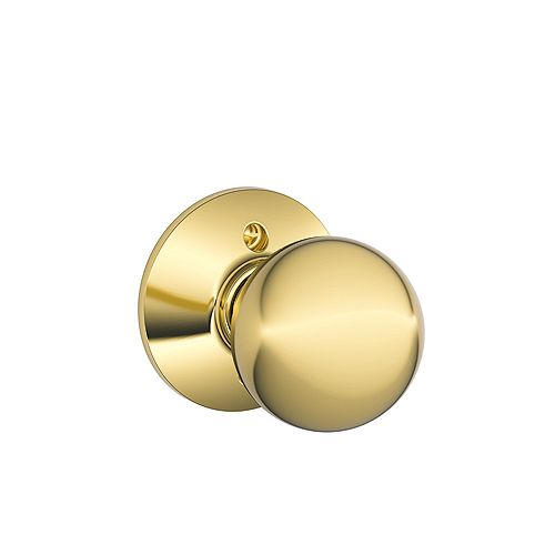 Schlage Dummy Knob Orbit Bright Brass