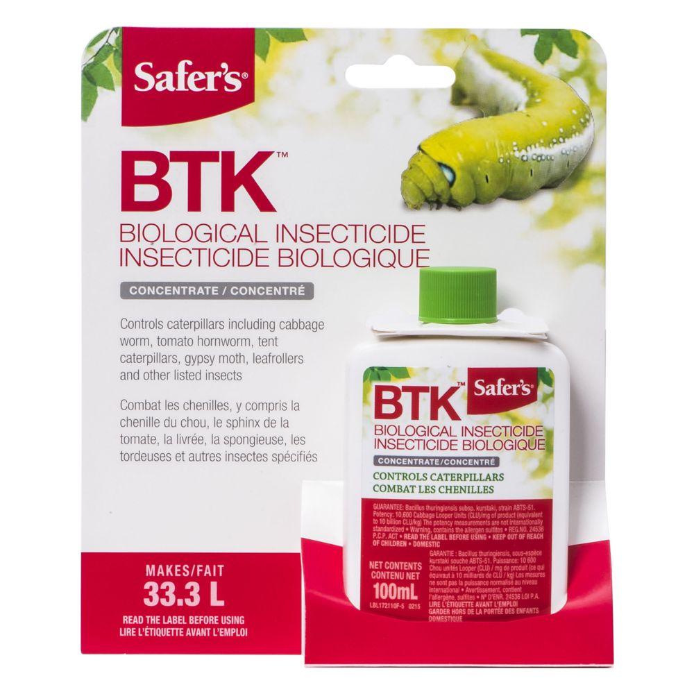 Tue-chenilles BTK de Safer's - concentré, 100 mL