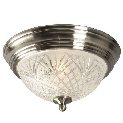 Luminaire de plafond avec verre clair et givré